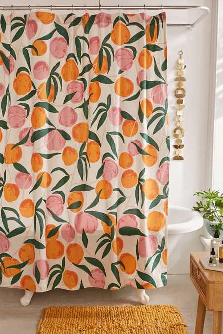 Orange Bathroom Decor Shower Accessories Urban Outfitters