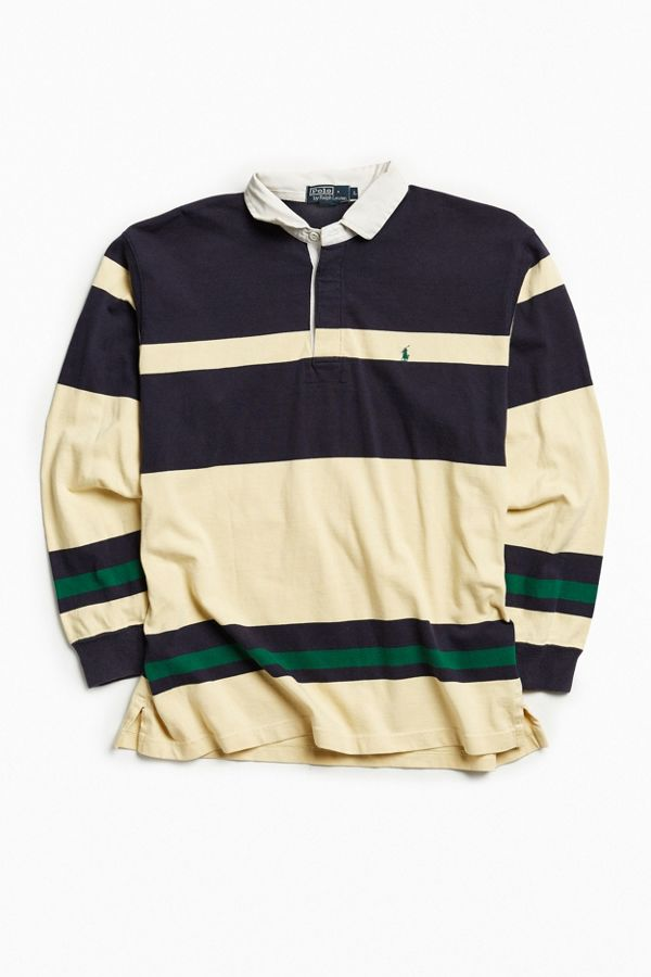 Vintage Polo Ralph Lauren Stripe Rugby Shirt   Urban Outfitters edad4af6f4b