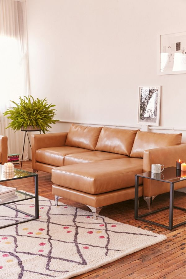 Chamberlin Recycled Leather Sectional Sofa Urban Outers