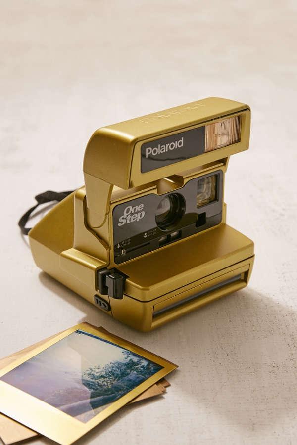 Appareil photo instantané OneStep doré remis à neuf Polaroid Originals e416042b3587