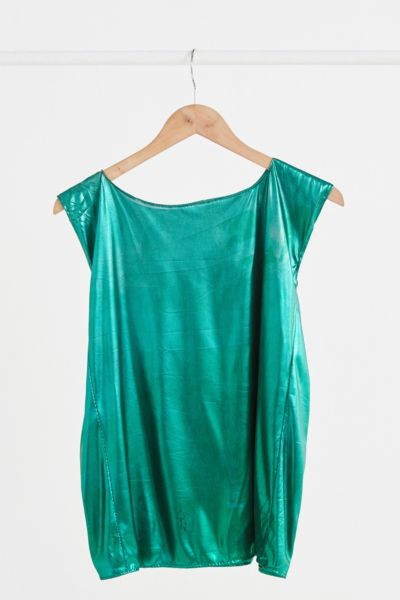 Vintage Emerald Green Shine Tank Top - Assorted One Size at Urban Outfitters