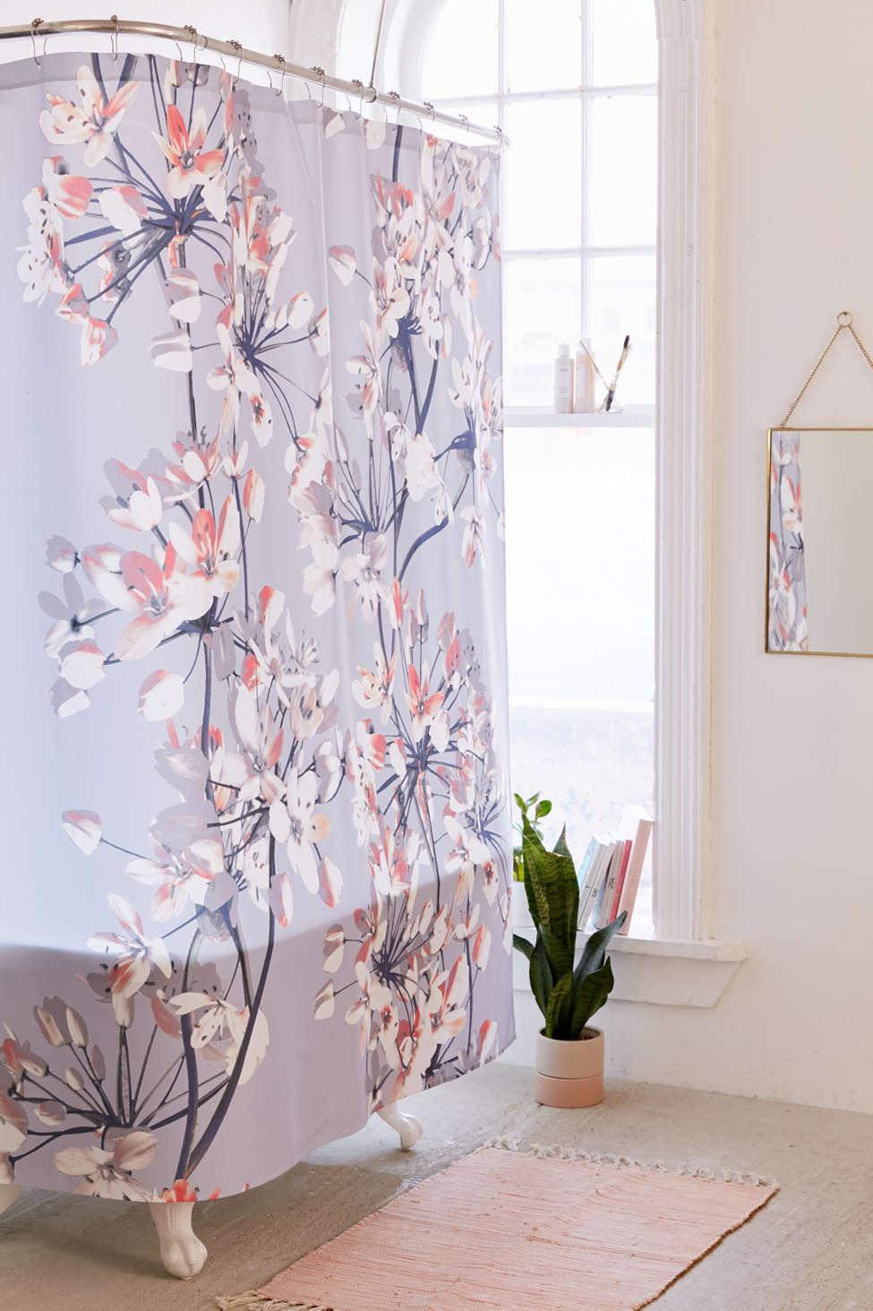 Slide View: 1: Emanuela Carratoni For Deny Delicate Floral Shower Curtain