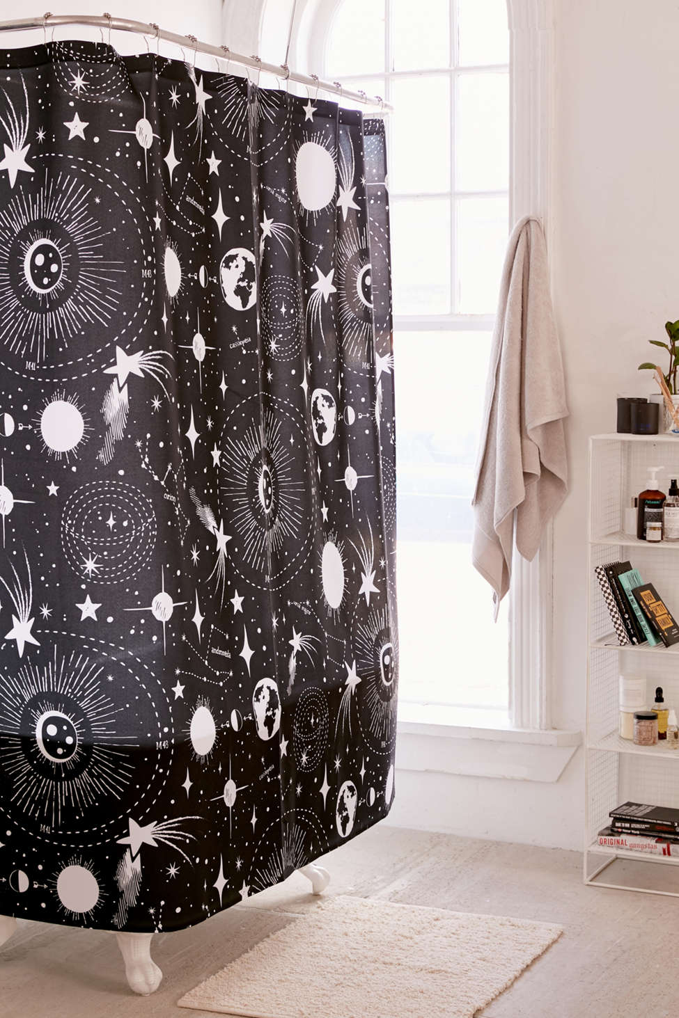Slide View: 1: Heather Dutton For Deny Solar System Shower Curtain