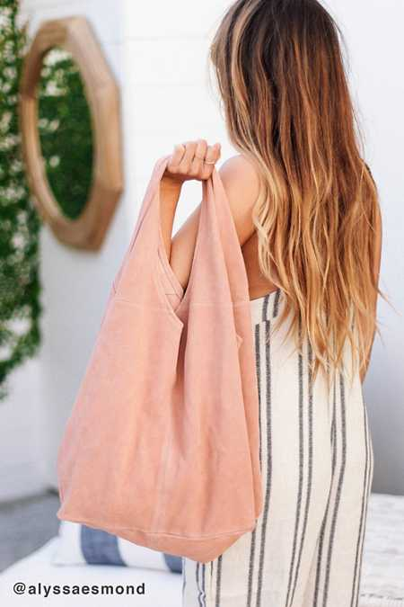 Slouchy Suede Shopper Tote Bag