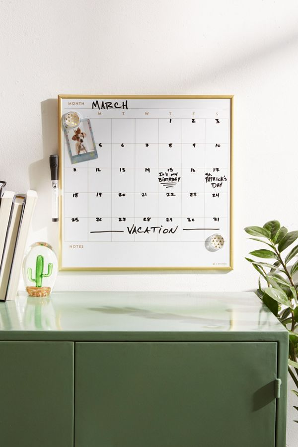 U Brands Dry Erase Calendar Message Board Urban Outfitters