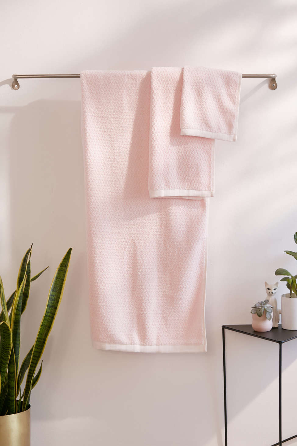 Slide View: 1: Everplush 6-Piece Diamond Jacquard Bath Towel Set