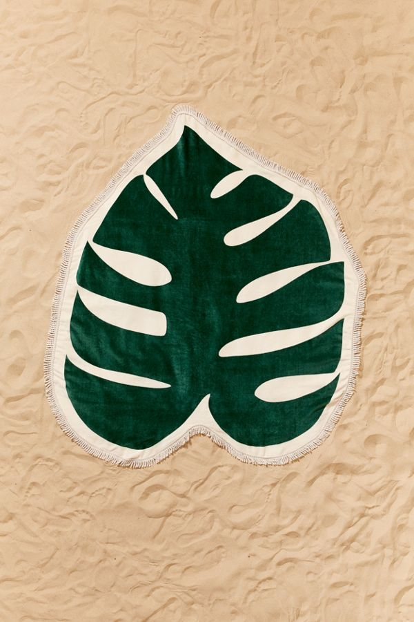 #Monstera Leaf Oversized Beach Towel