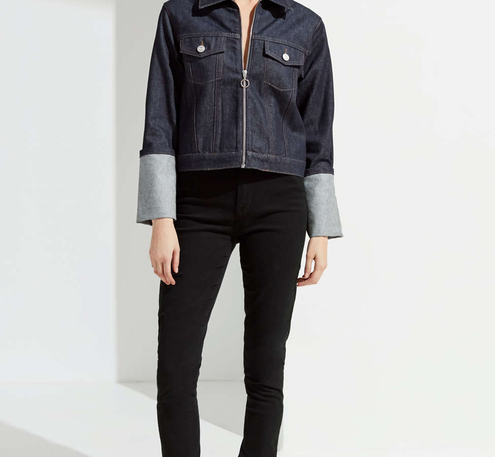 Slide View: 4: UO Zipper Denim Jacket