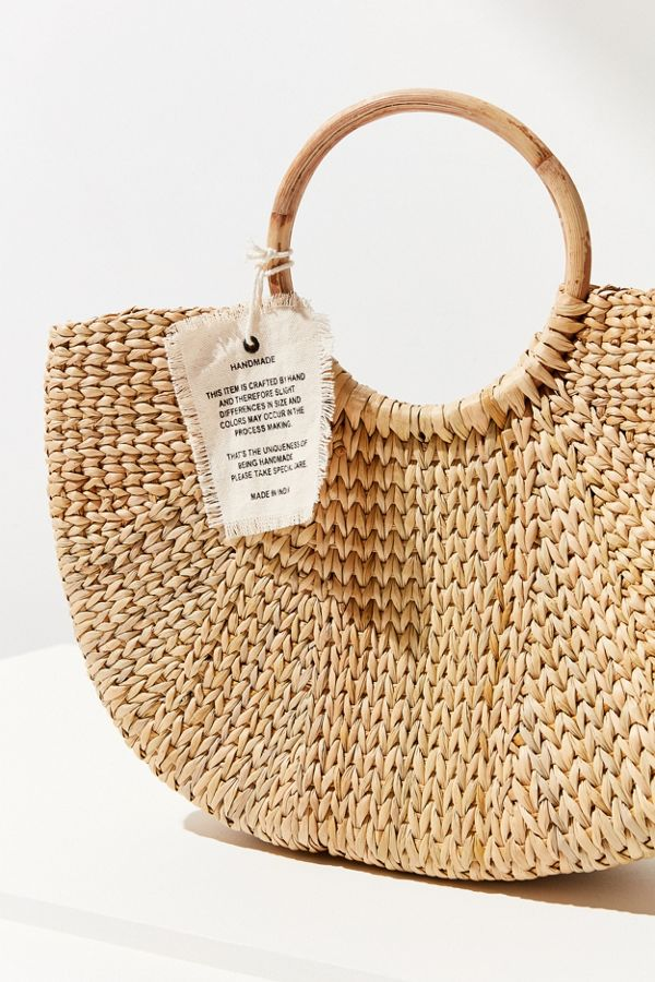 Half Moon Straw Tote Bag Urban Outfitters Canada