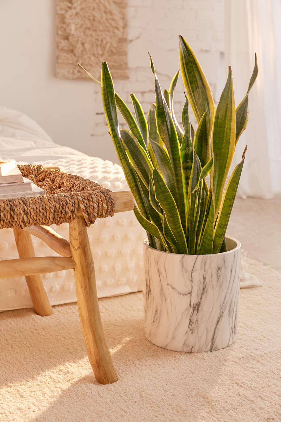 """Slide View: 1: 10"""" Marble Planter"""