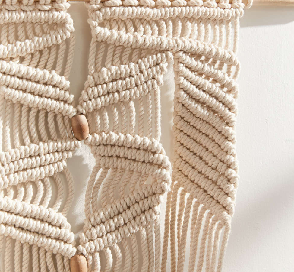 Slide View: 3: Large Macramé Hanging Wall Planter