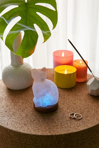 Mini Color-Changing USB Cat Himalayan Salt Lamp - Peach One Size at Urban Outfitters
