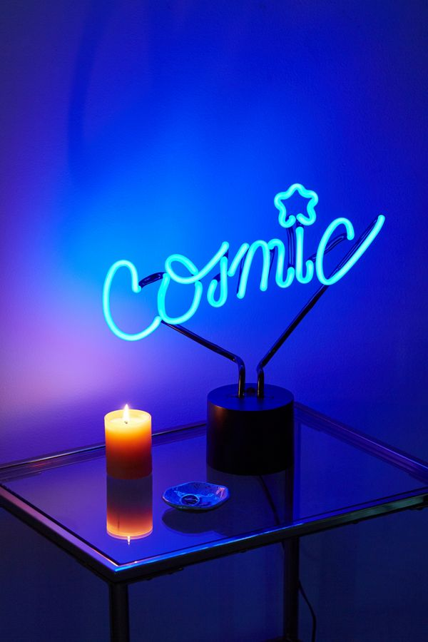 Slide view 1 cosmic neon sign table lamp