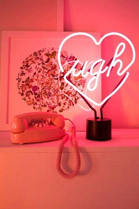 Neon Table Light: Lamps + Home Lighting