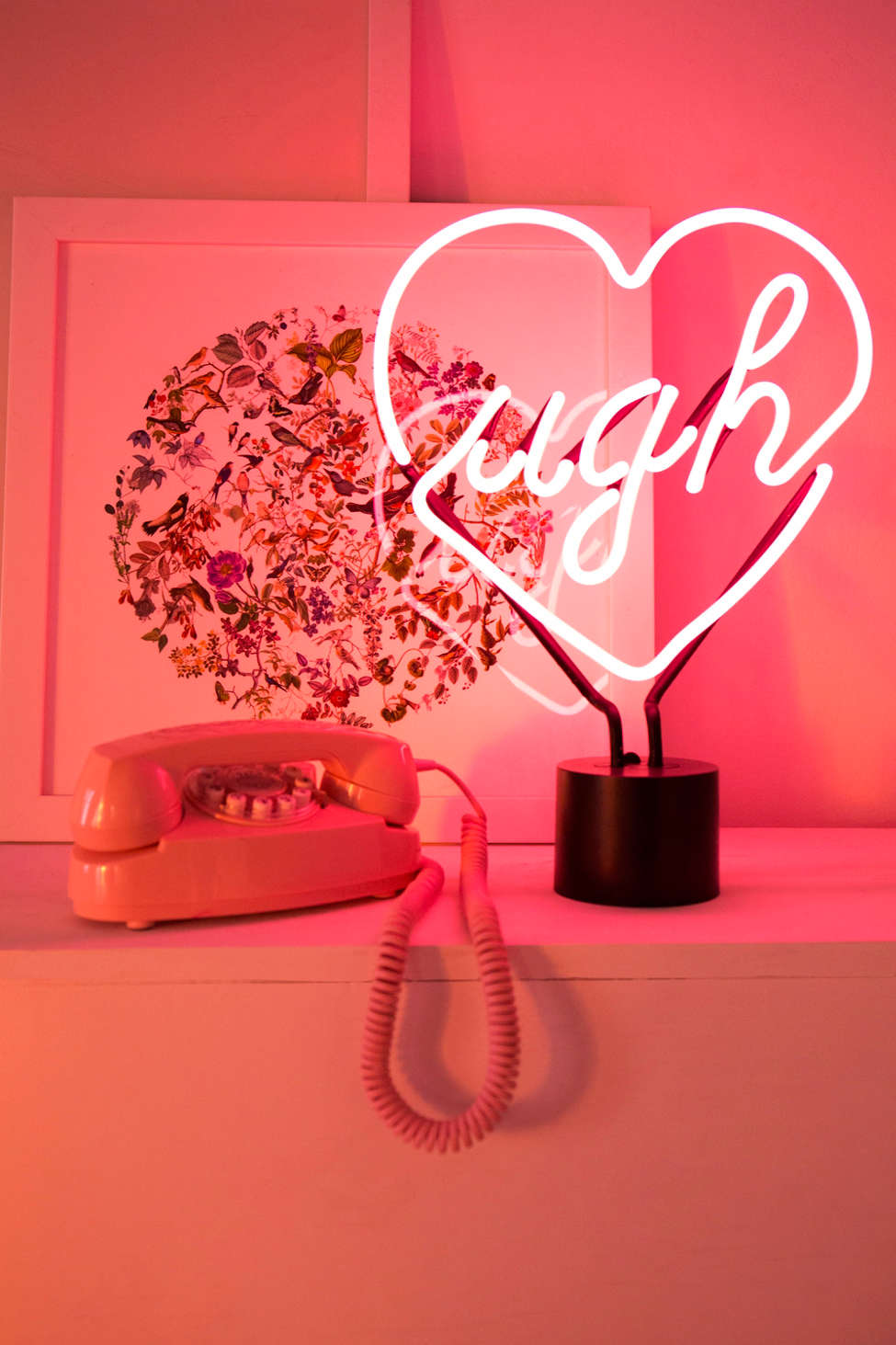 Slide View: 1: Ugh Neon Sign Table Lamp