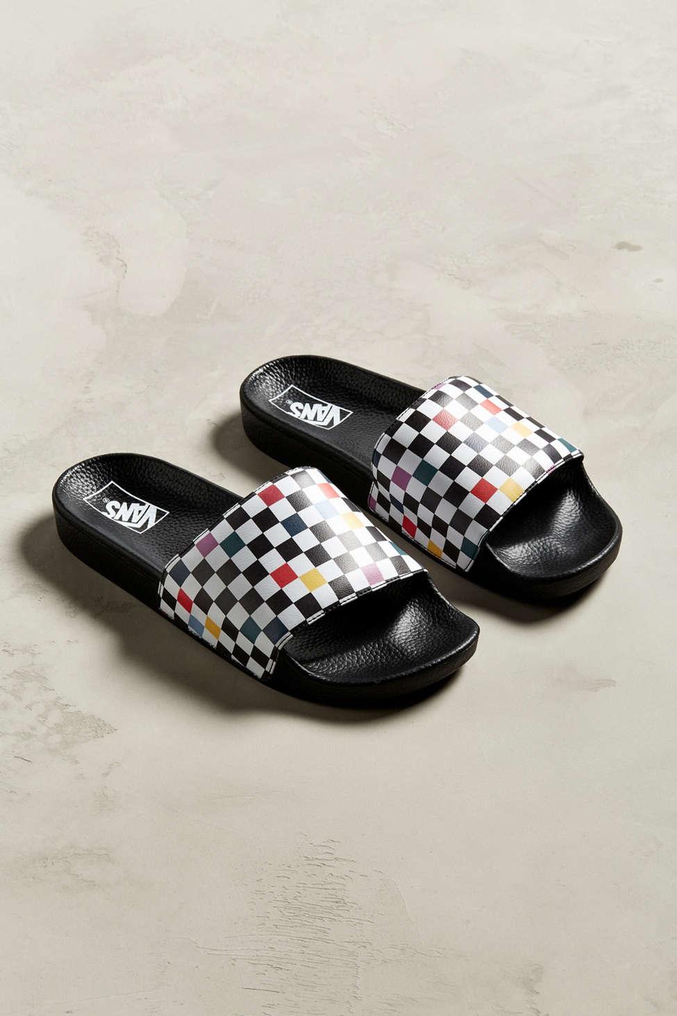 Vans Sport Slide Party Checkerboard Sandal
