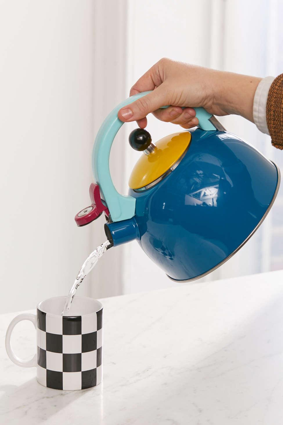 Slide View: 1: Colorblocked Tea Kettle