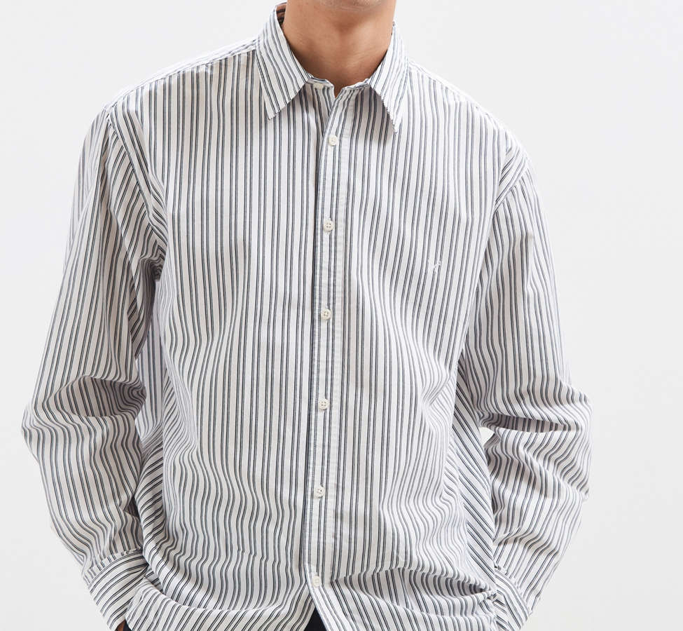 Slide View: 1: Palu Textured Stripe Button-Down Shirt