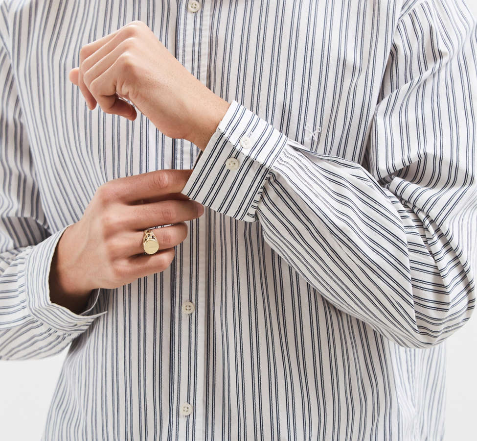 Slide View: 4: Palu Textured Stripe Button-Down Shirt