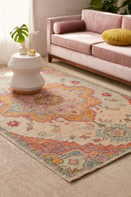 Crystal Floral Tufted Rug