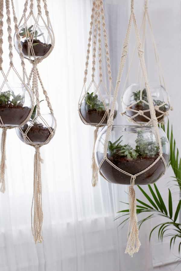 Hanging Macramé Terrarium