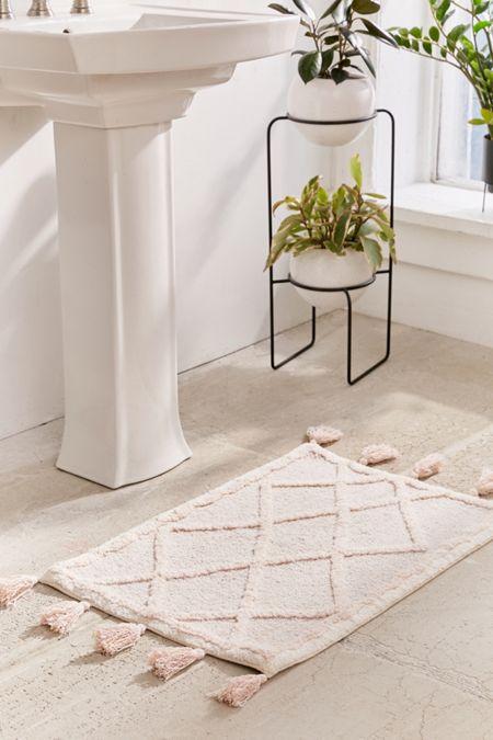 bathroom rugs and mats. Tufted Diamond Tassel Bath Mat Bathroom Rugs  Mats Urban Outfitters