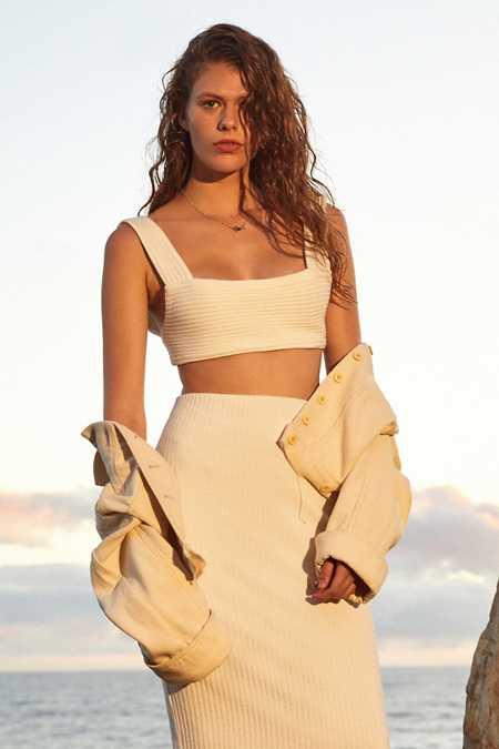 UO Zane Bodycon Midi Skirt