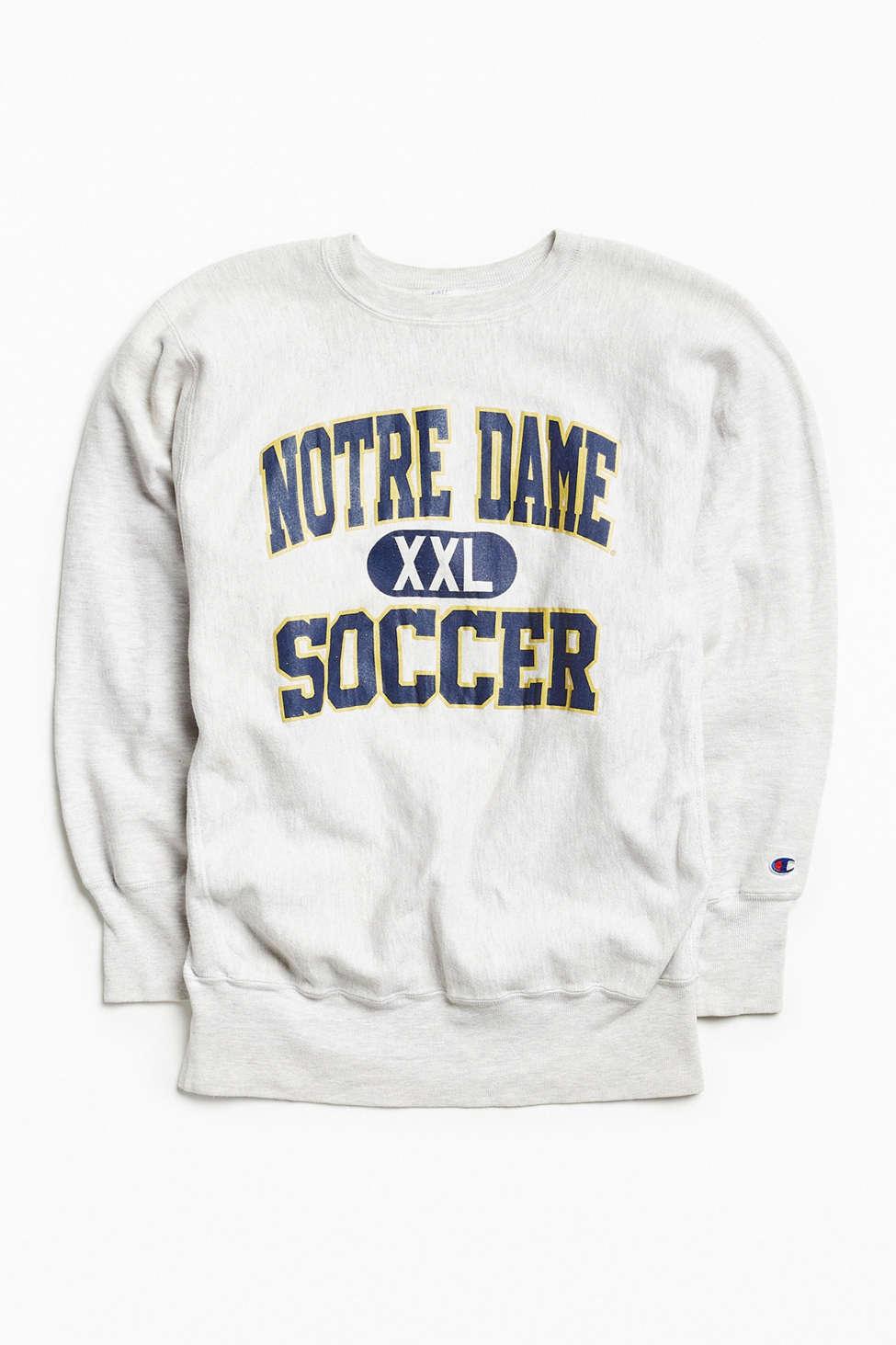Vintage Champion Notre Dame Soccer Crew Neck Sweatshirt Urban