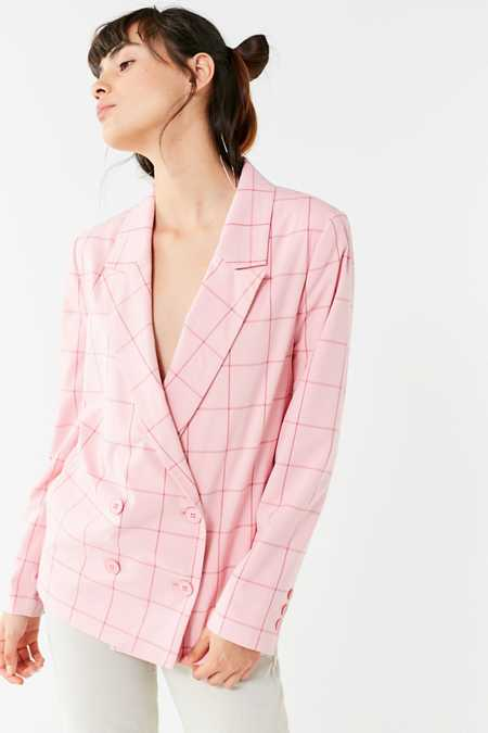 Just Female Valeria Checkered Blazer