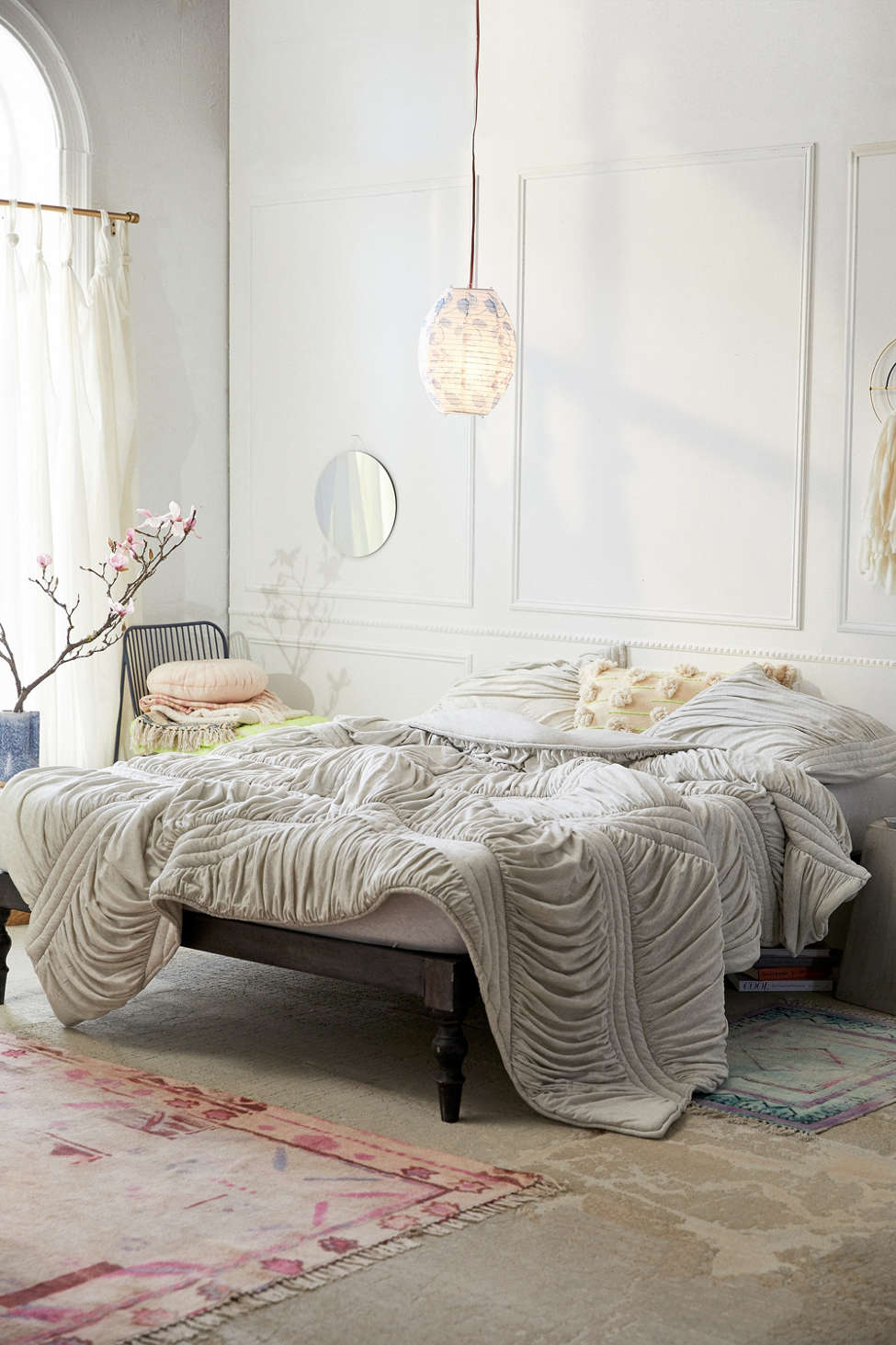 Slide View: 1: Quilted Jersey Comforter