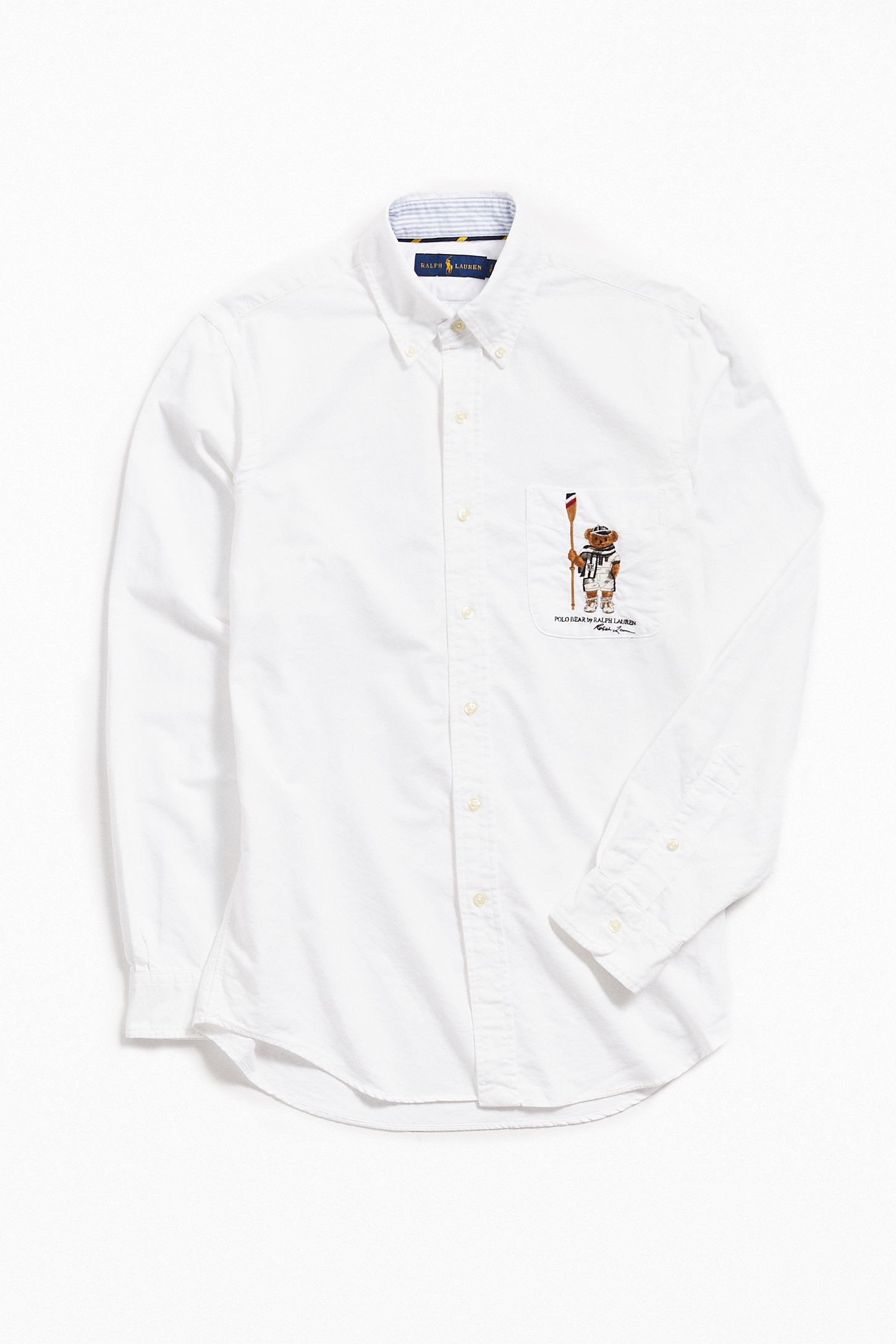Polo Ralph Lauren Embroidered Bear Oxford Shirt Urban Outfitters