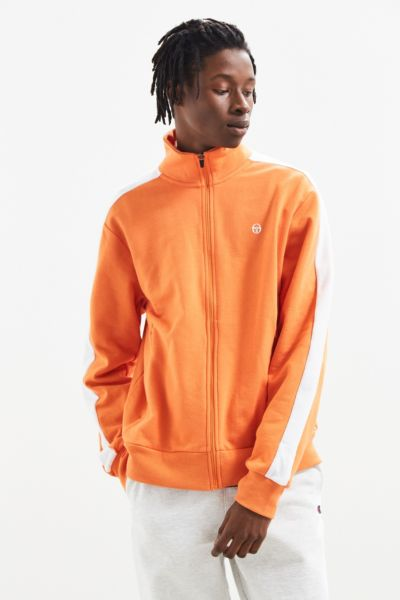 Sergio Tacchini French Terry Track Jacket - Medium Orange M at Urban Outfitters