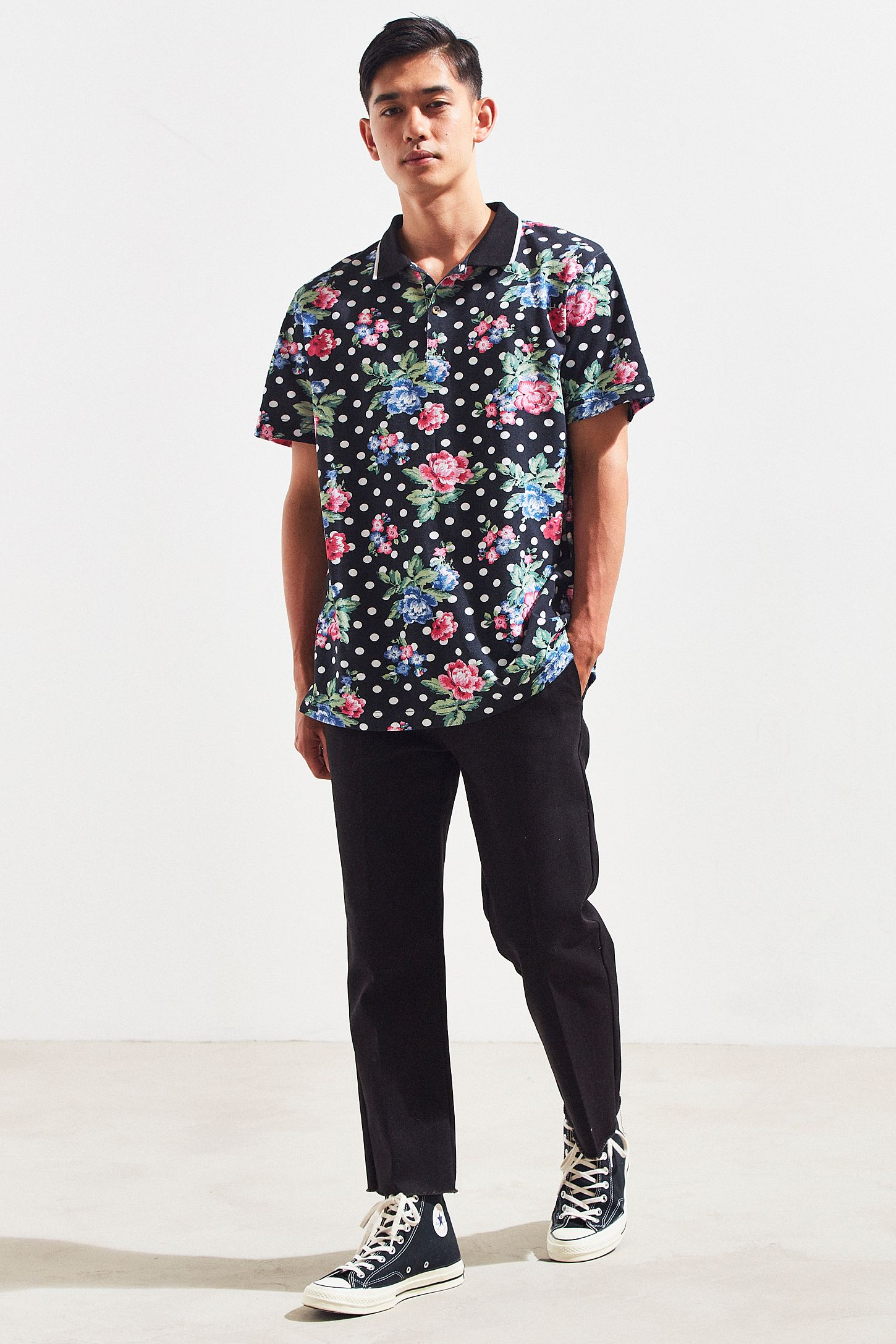 Uo Pique Polo Shirt Urban Outfitters