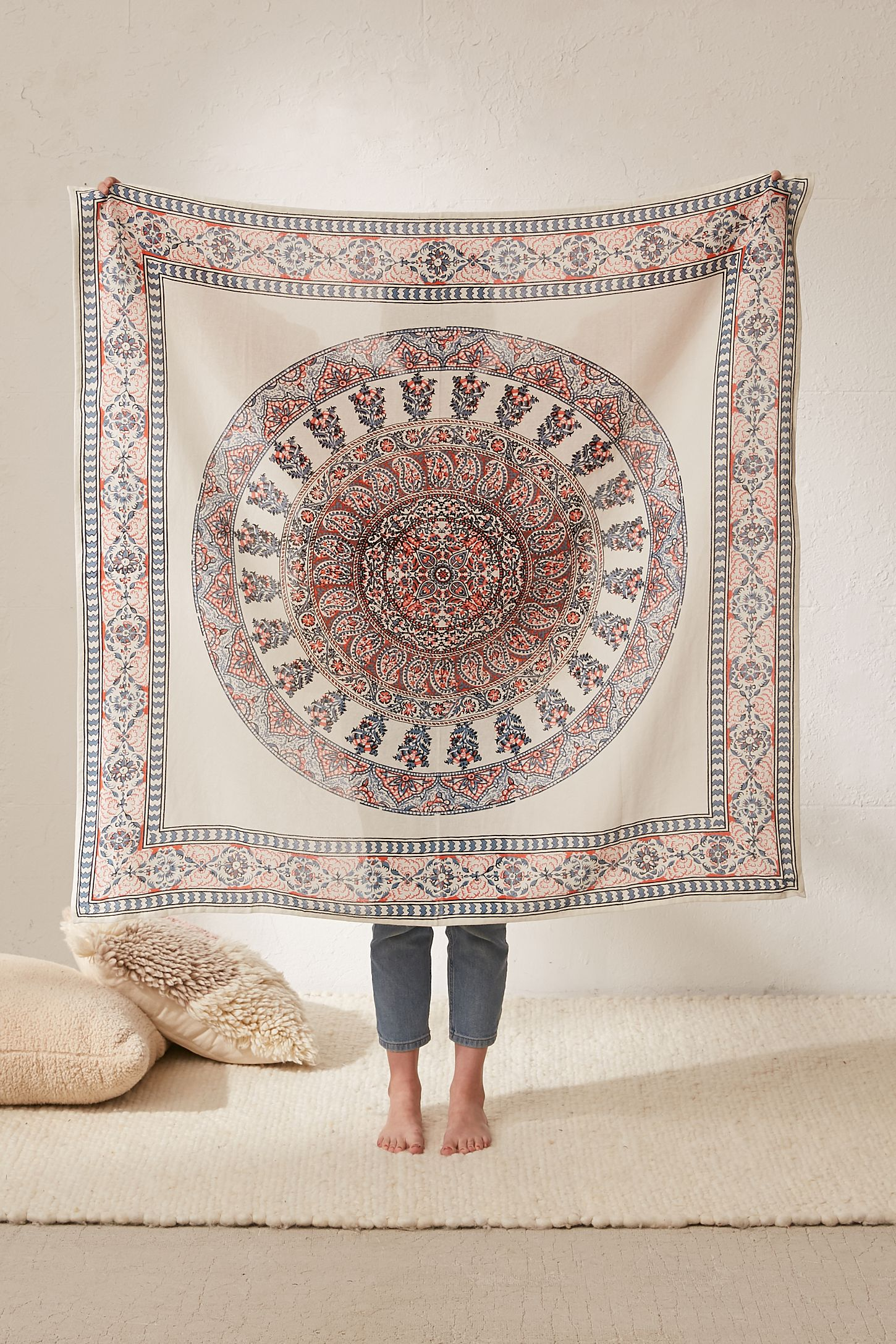 medallion tapestry bedding mandala indian ombre hangings hippie wall collection multi tapestries blue