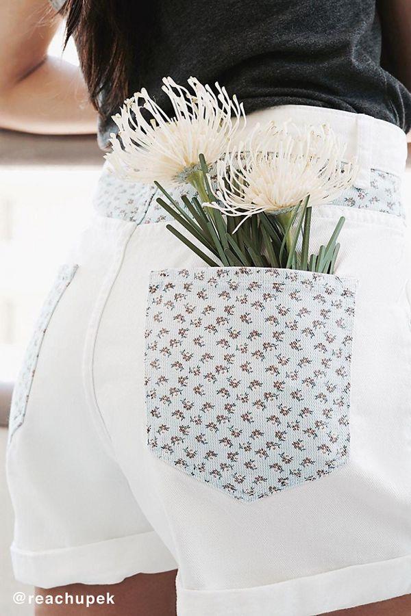 Bdg mom high rise denim short flower print urban outfitters bdg mom high rise denim short flower print mightylinksfo