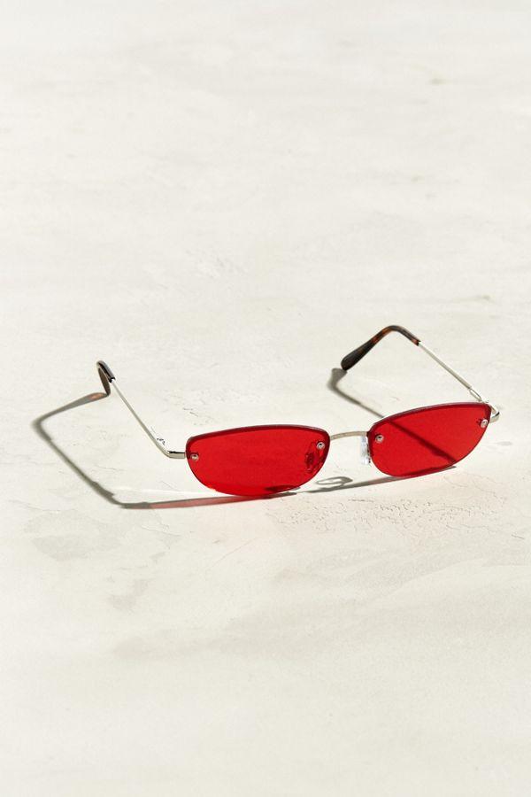 5de1cf8ecbe Rimless Rounded Rectangle Sunglasses