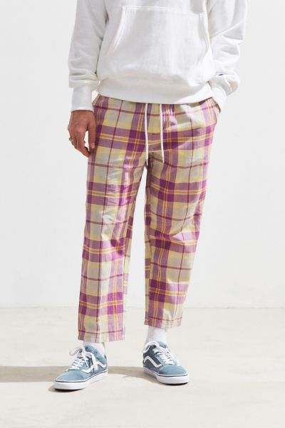 Uo Lightweight Spencer Plaid Pant by Urban Outfitters
