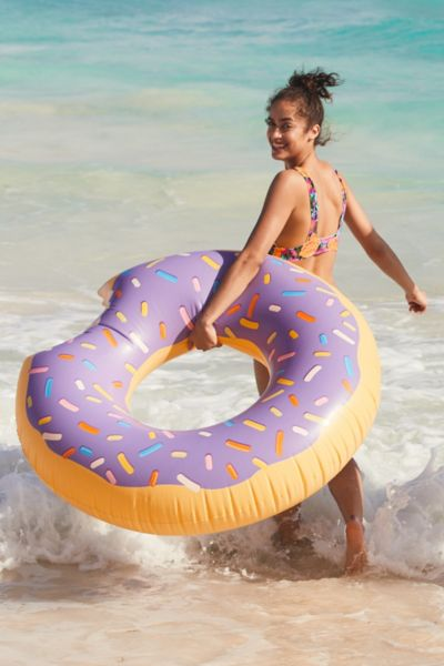 Lilac Donut Inner Tube Pool Float - Lilac One Size at Urban Outfitters