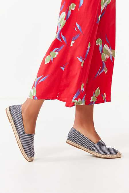 UO Striped Denim Espadrille Flat