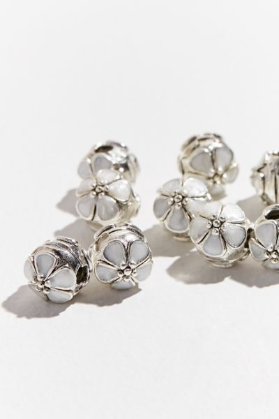 Regal Rose Floral Hair Bead Set - Silver One Size at Urban Outfitters