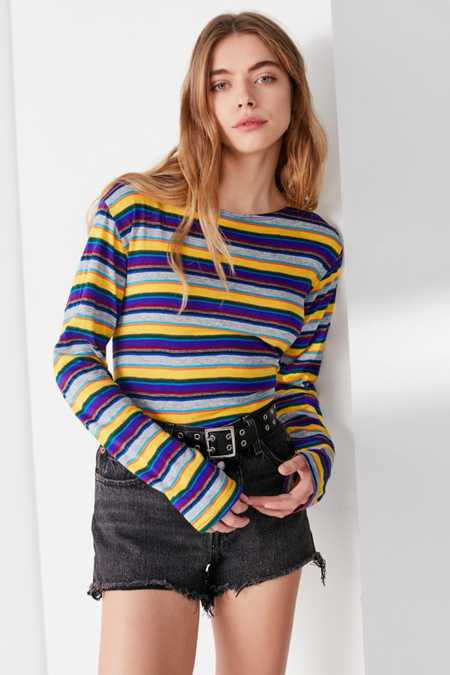 Vintage Striped Long Sleeve Tee