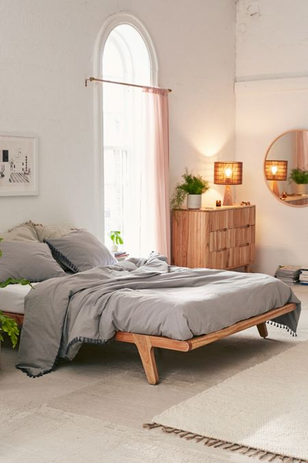Bed frames headboards urban outfitters for Urban home beds