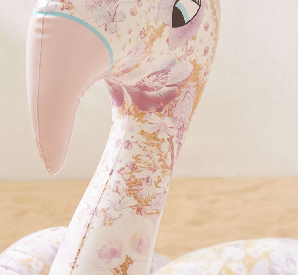 Slide View: 3: FUNBOY For UO Floral Flamingo Pool Float