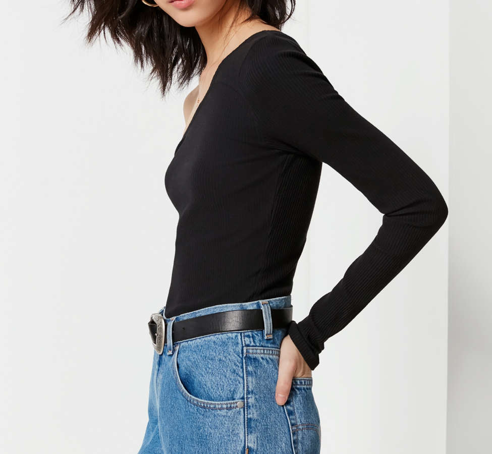 Slide View: 4: UO Asymmetrical One-Shoulder Top