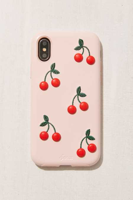 Patent Cherry iPhone X Case