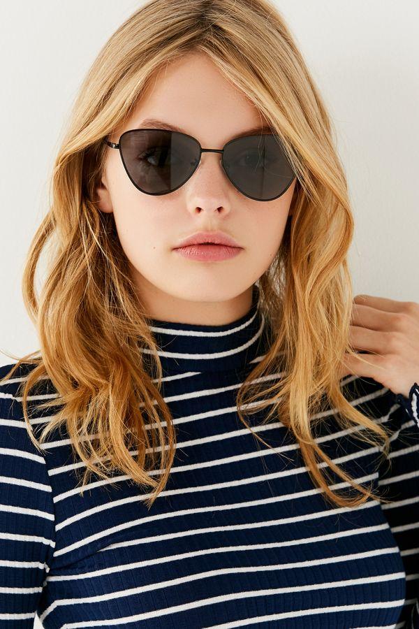 Echo Cat-eye Metal Sunglasses - Black Le Specs NGqcVK
