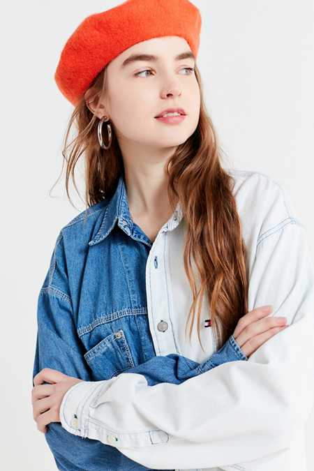 Urban Renewal Recycled Spliced Two-Tone Chambray Shirt