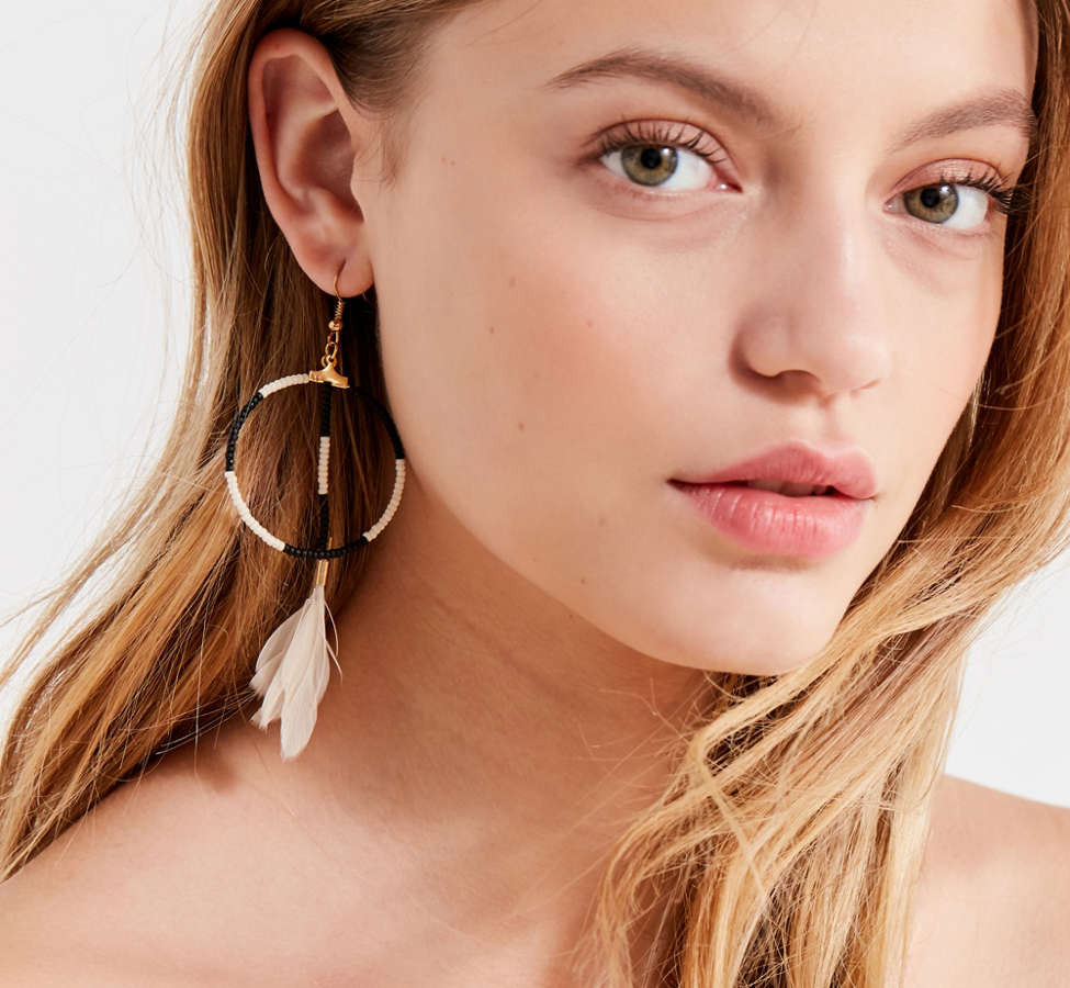 Slide View: 2: Fiona Paxton Sunray Beaded Hoop Drop Earring