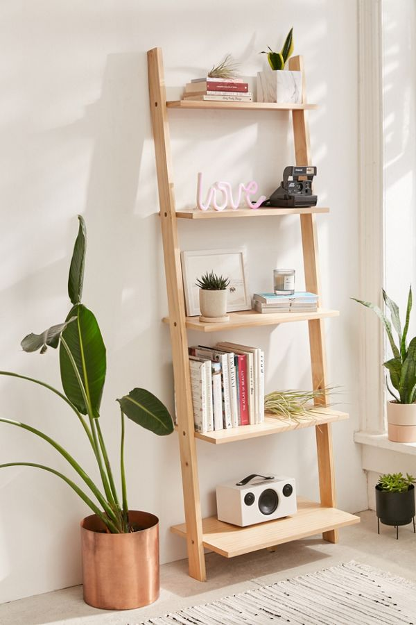 Leaning Bookshelf | Urban Outfitters