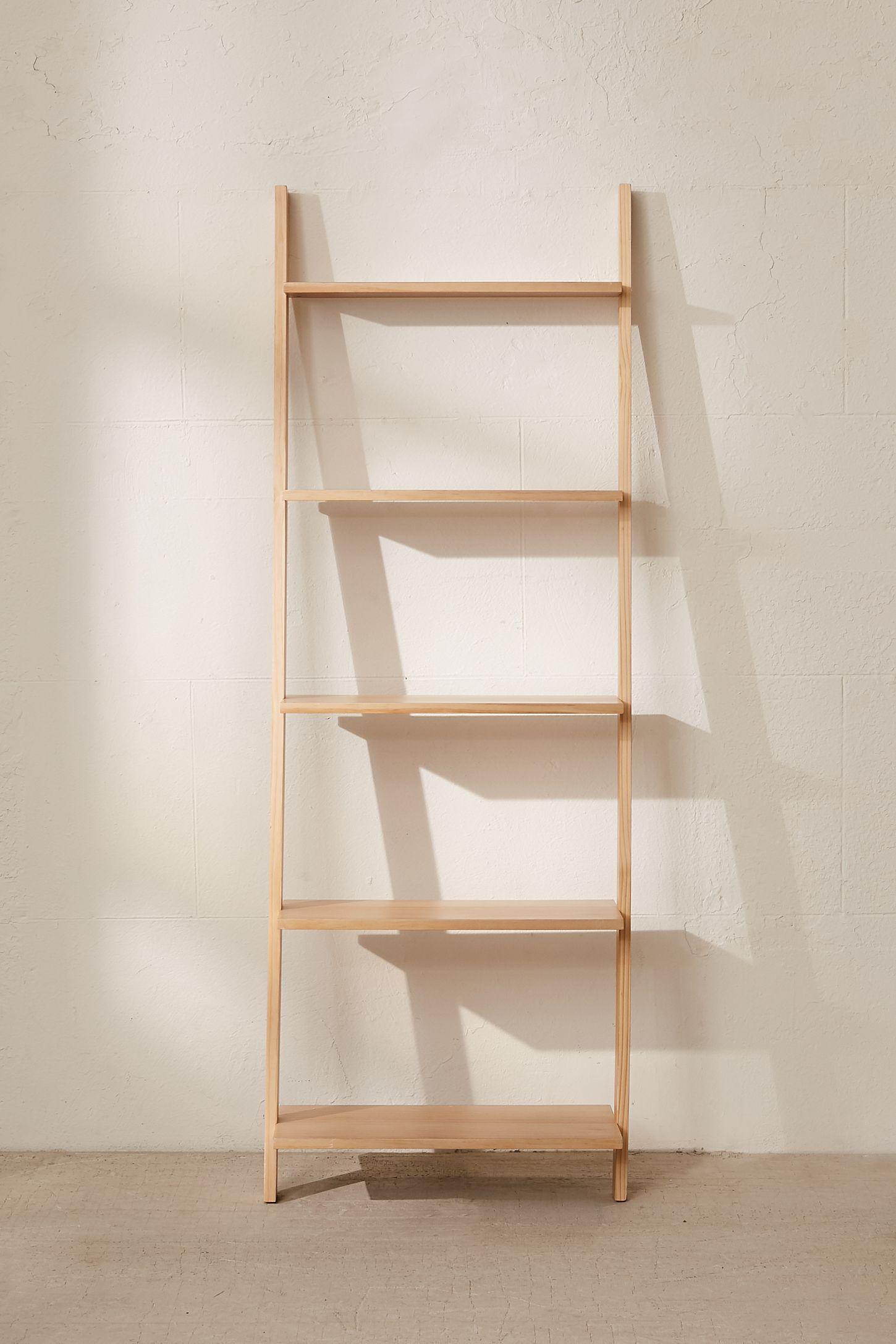 Slide View 6 Leaning Bookshelf